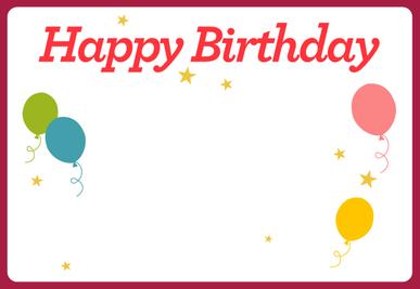 Birthday E-Card (Digital) Cover