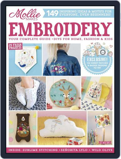 Mollie Makes Embroidery April 28th, 2017 Digital Back Issue Cover