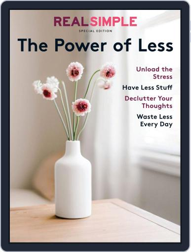 Real Simple The Power of Less December 6th, 2019 Digital Back Issue Cover