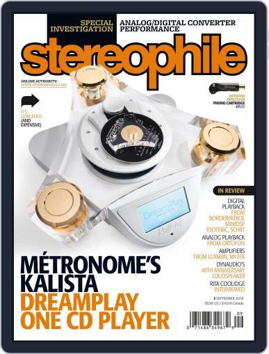 Stereophile September 1st, 2018 Digital Back Issue Cover
