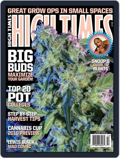 High Times August 17th, 2010 Digital Back Issue Cover