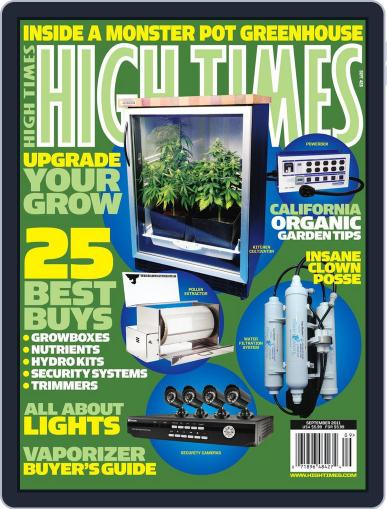 High Times July 12th, 2011 Digital Back Issue Cover