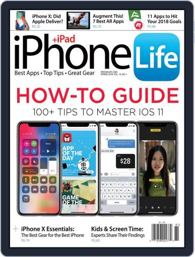 Iphone Life January 1st, 2018 Digital Back Issue Cover