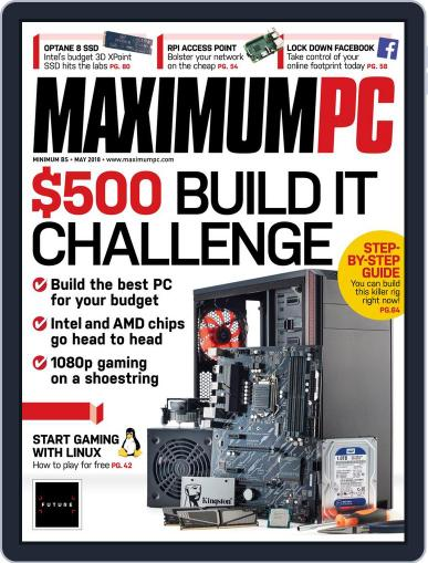 Maximum PC May 1st, 2018 Digital Back Issue Cover