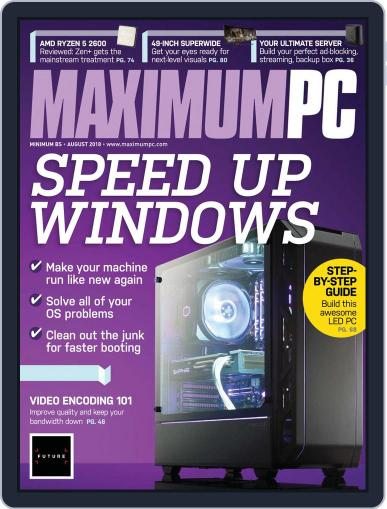 Maximum PC August 1st, 2018 Digital Back Issue Cover