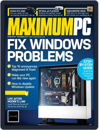 Maximum PC November 1st, 2018 Digital Back Issue Cover