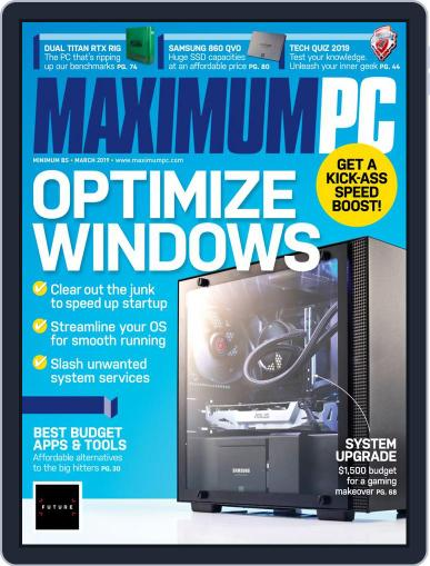 Maximum PC March 1st, 2019 Digital Back Issue Cover
