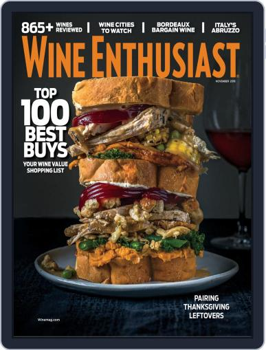 Wine Enthusiast November 1st, 2018 Digital Back Issue Cover