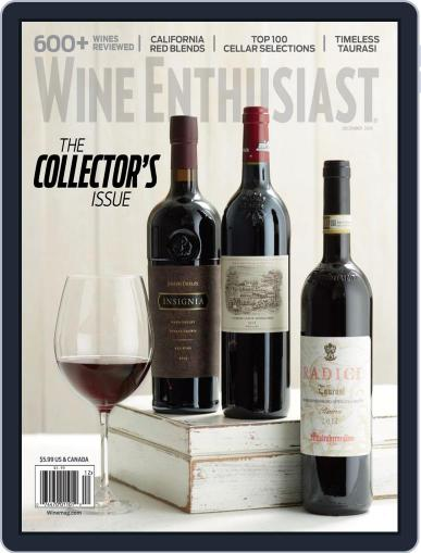 Wine Enthusiast December 1st, 2018 Digital Back Issue Cover