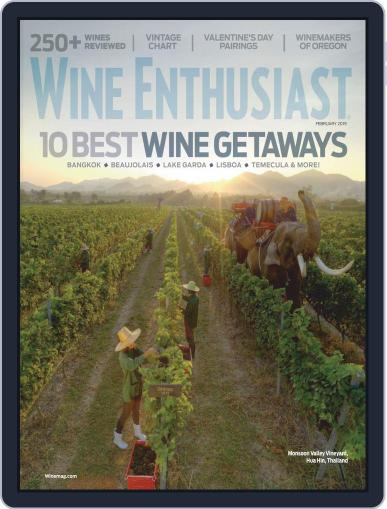 Wine Enthusiast February 1st, 2019 Digital Back Issue Cover