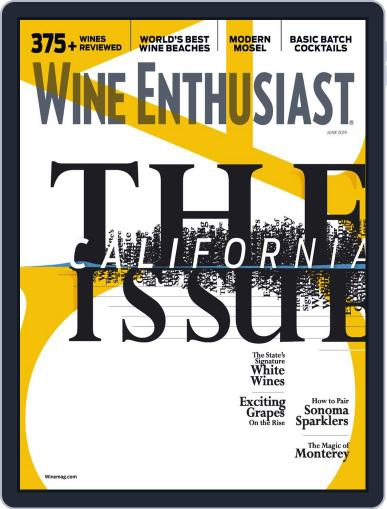 Wine Enthusiast June 1st, 2019 Digital Back Issue Cover