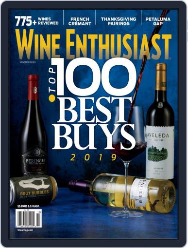 Wine Enthusiast November 1st, 2019 Digital Back Issue Cover