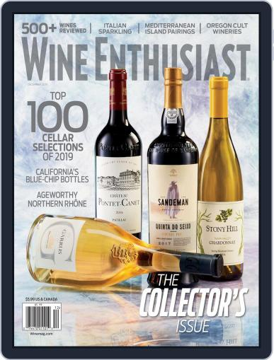 Wine Enthusiast December 1st, 2019 Digital Back Issue Cover