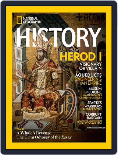National Geographic History October 25th, 2016 Digital Back Issue Cover