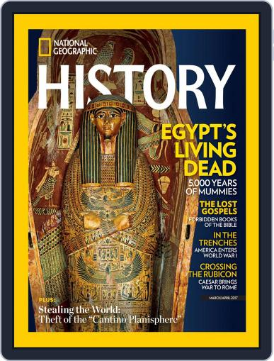 National Geographic History March 1st, 2017 Digital Back Issue Cover