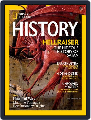National Geographic History September 1st, 2018 Digital Back Issue Cover