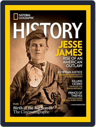 National Geographic History January 1st, 2019 Digital Back Issue Cover