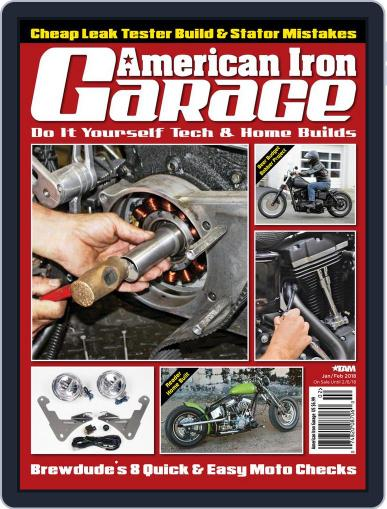 American Iron Garage January 1st, 2018 Digital Back Issue Cover