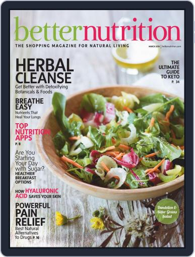 Better Nutrition March 1st, 2019 Digital Back Issue Cover