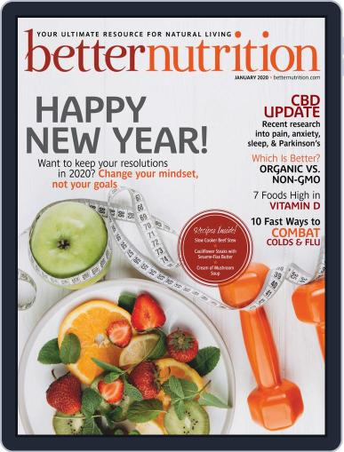 Better Nutrition January 1st, 2020 Digital Back Issue Cover