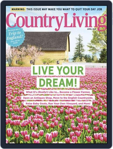 Country Living April 1st, 2019 Digital Back Issue Cover