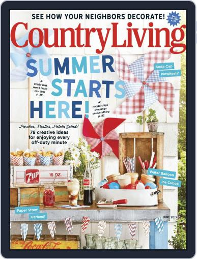 Country Living June 1st, 2019 Digital Back Issue Cover