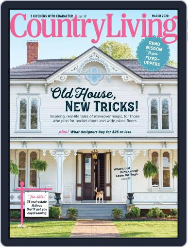 Country Living March 1st, 2020 Digital Back Issue Cover