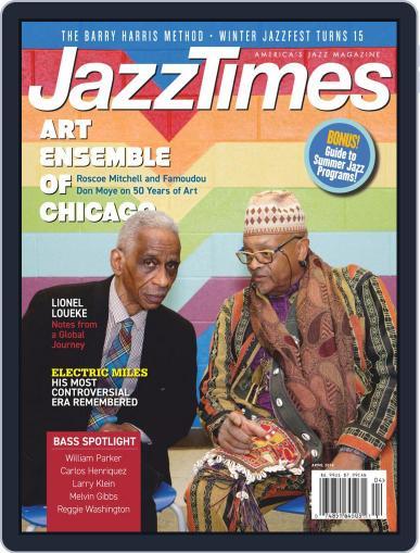 JazzTimes April 1st, 2019 Digital Back Issue Cover