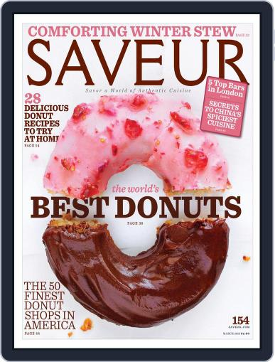 Saveur March 1st, 2013 Digital Back Issue Cover
