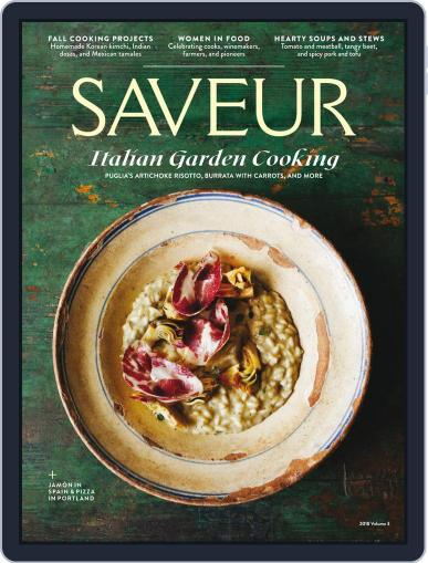 Saveur August 13th, 2018 Digital Back Issue Cover