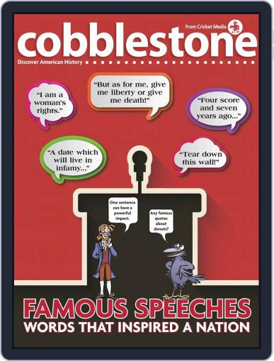 Cobblestone American History and Current Events for Kids and Children July 1st, 2018 Digital Back Issue Cover