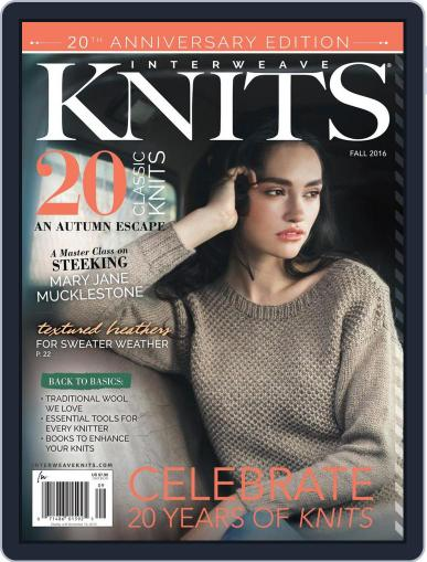 Interweave Knits August 16th, 2016 Digital Back Issue Cover
