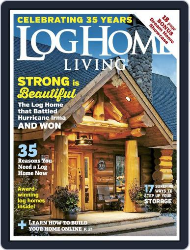 Log Home Living January 1st, 2018 Digital Back Issue Cover
