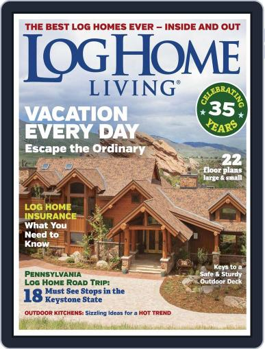 Log Home Living April 1st, 2018 Digital Back Issue Cover