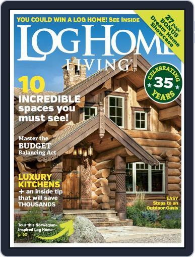 Log Home Living June 1st, 2018 Digital Back Issue Cover
