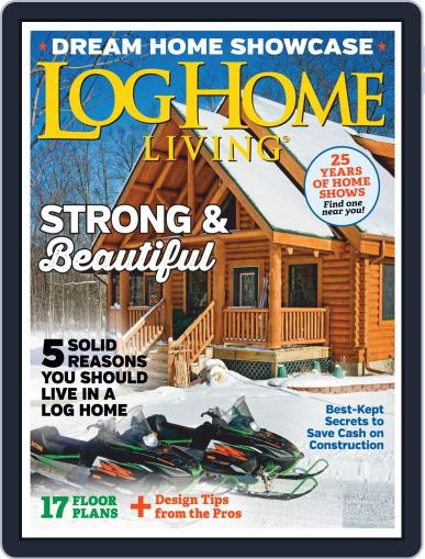Log Home Living January 1st, 2020 Digital Back Issue Cover