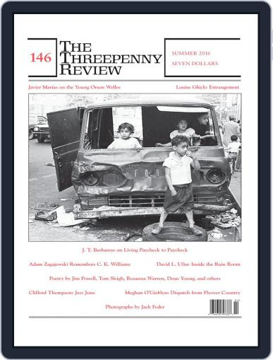 The Threepenny Review June 1st, 2016 Digital Back Issue Cover