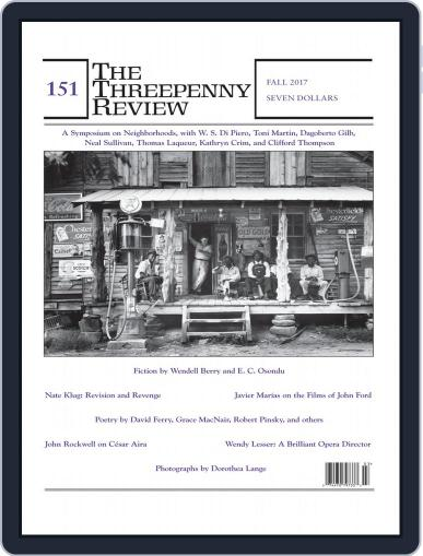 The Threepenny Review September 1st, 2017 Digital Back Issue Cover