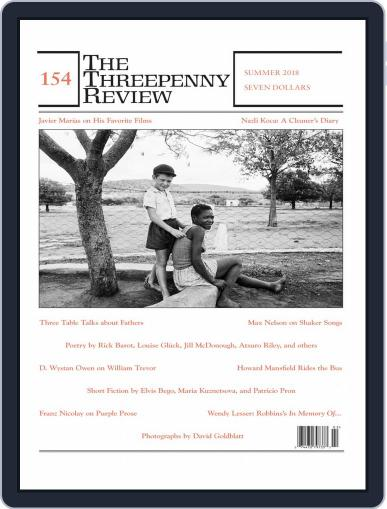 The Threepenny Review July 1st, 2018 Digital Back Issue Cover