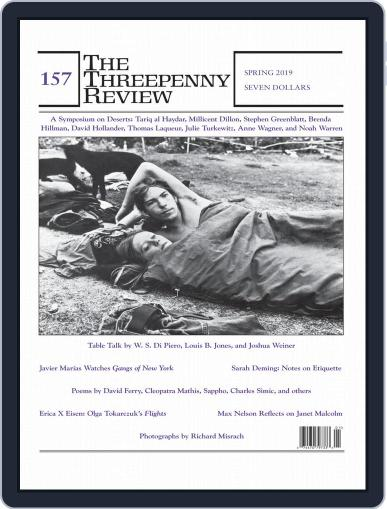 The Threepenny Review February 1st, 2019 Digital Back Issue Cover
