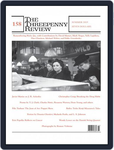The Threepenny Review May 1st, 2019 Digital Back Issue Cover