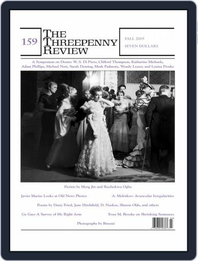 The Threepenny Review August 1st, 2019 Digital Back Issue Cover