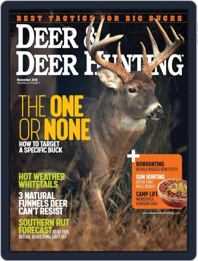 Deer & Deer Hunting November 1st, 2018 Digital Back Issue Cover