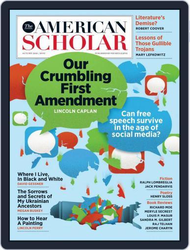 The American Scholar September 1st, 2018 Digital Back Issue Cover