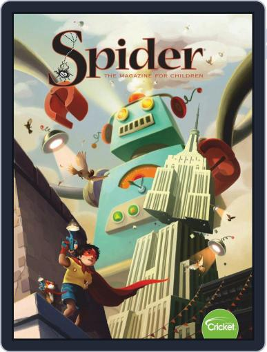 Spider Magazine Stories, Games, Activites And Puzzles For Children And Kids February 1st, 2019 Digital Back Issue Cover