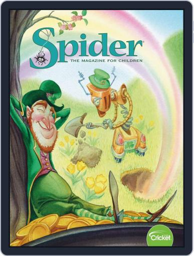 Spider Magazine Stories, Games, Activites And Puzzles For Children And Kids March 1st, 2019 Digital Back Issue Cover