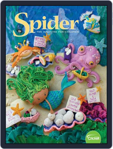 Spider Magazine Stories, Games, Activites And Puzzles For Children And Kids July 1st, 2019 Digital Back Issue Cover