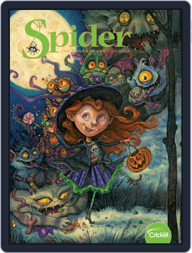 Spider Magazine Stories, Games, Activites And Puzzles For Children And Kids October 1st, 2019 Digital Back Issue Cover
