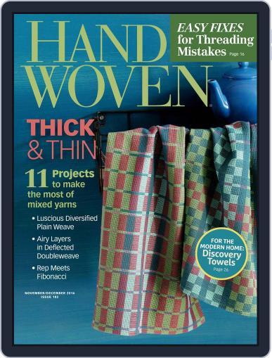 Handwoven November 1st, 2016 Digital Back Issue Cover