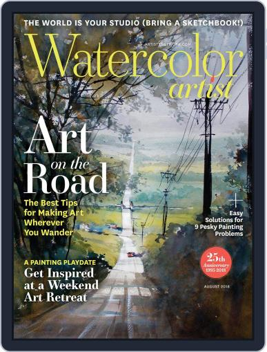 Watercolor Artist August 1st, 2018 Digital Back Issue Cover